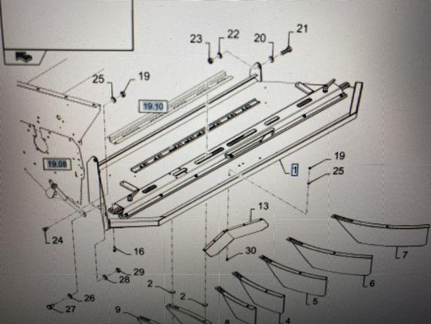 Pokrywa rozrzutnika słomy New Holland CR9000 CX8000 CR900, Wyprzedaż