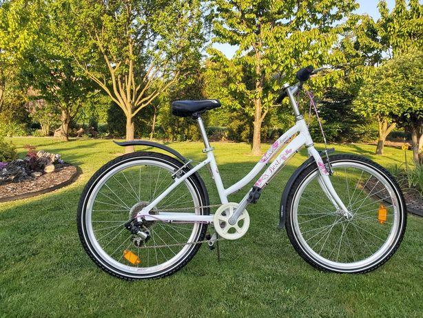 Rower Best Luri  biało-różowy