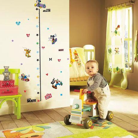 Измеритель роста для детей.РОСТОМЕР виниловая наклейка в детскую комна
