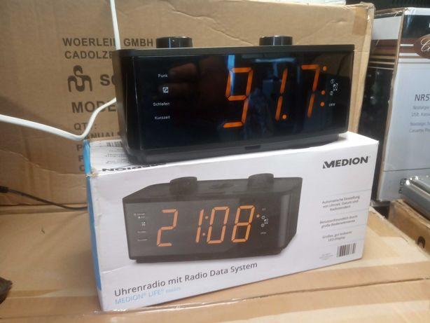 Radio budzik duży LCD dla seniora