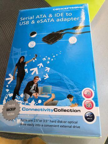 Conversor disco 2.5/3.5 para USB...