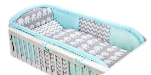 Ochraniacz na łóżeczko na całą długość
