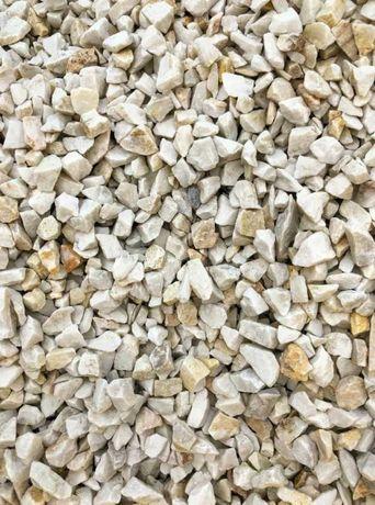 Biały Kamień Ozdobny Ogrodowy Grys Biała Marianna 8-16mm Tona 1000kg