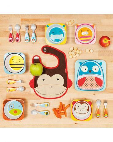 Детская посуда Skip Hop. Тарелочки, вилочки, ложечки, поильник.