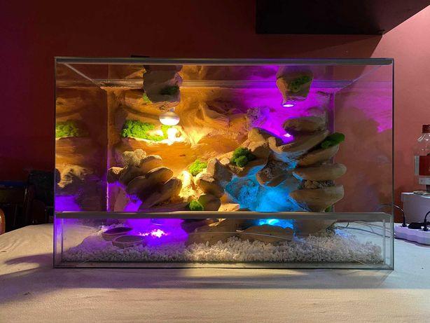 Nowe Terrarium 80x40x50 gekon lamparci, jaszczurka