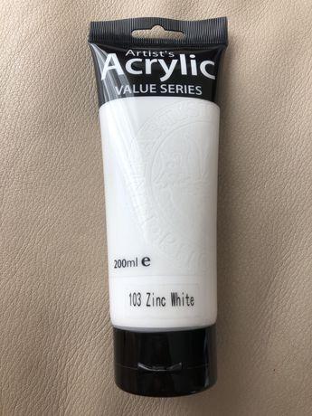 Farba akrylowa Phoenix 200ml - 103 Zinc White, decoupage