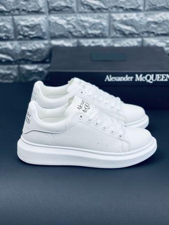 Кожаные кроссовки Alexander McQueen Премиум Кожа! Александер Маккуин