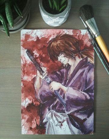 Kenshin, anime fanart, obraz