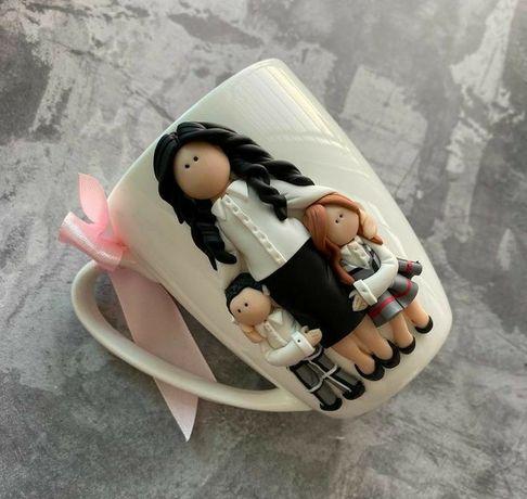 Чашка з полімерної глини