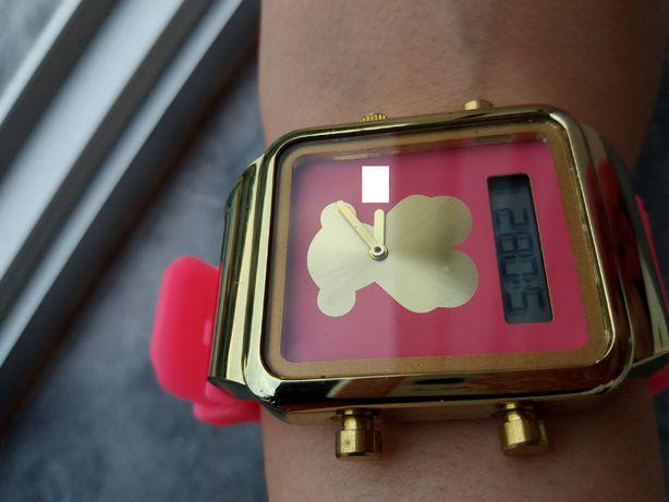 Relógio Rosa/Dourado - Digital/Analógico