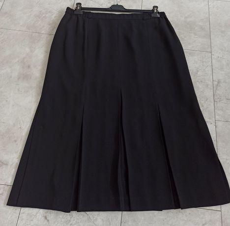 Czarna plisowana spódnica xxl 46 48