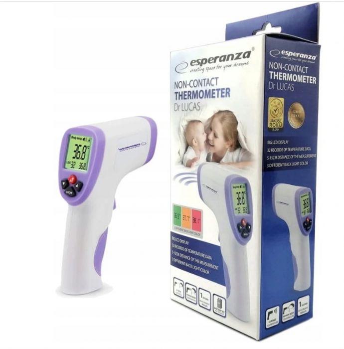 PRECYZYJNY Termometr Bezdotykowy LCD Pamięć Pomiarów * NOWY GW24