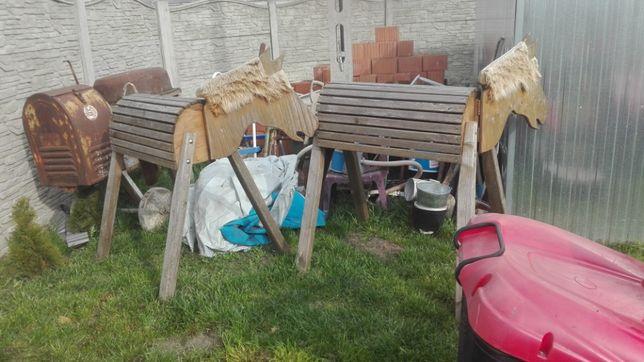 Konie ozdoba na ogród 2 sztuki