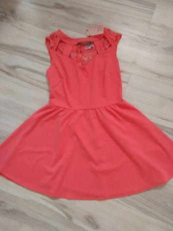 Sliczna rozkloszowana sukienka rozmiar 12,L,40-NOWA