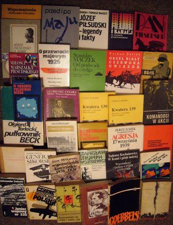 Książki o tematyce wojennej, wspomnienia. 33 egz.