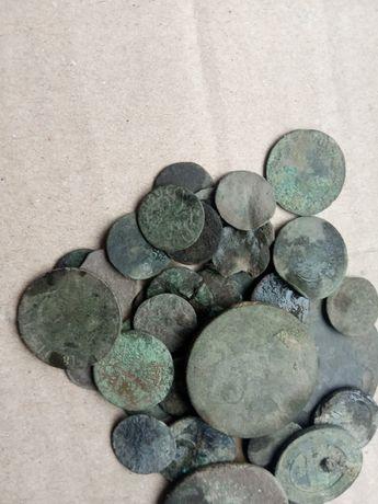 40 медных монет от средневековой Польши до царской России
