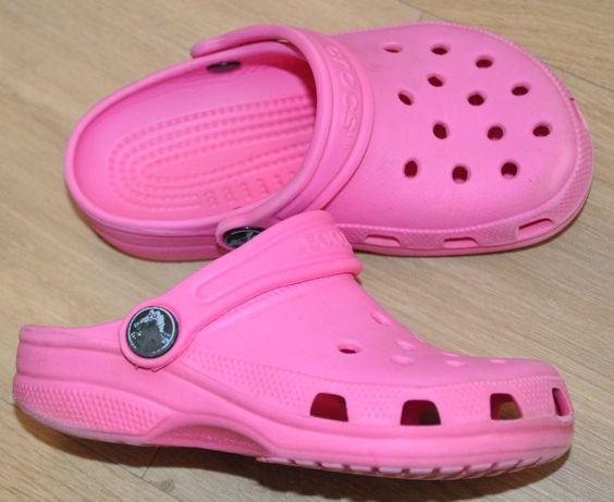 CROCS C 8/9 ( 25-26 ) klapki, sandały, sandałki- różowe śliczne