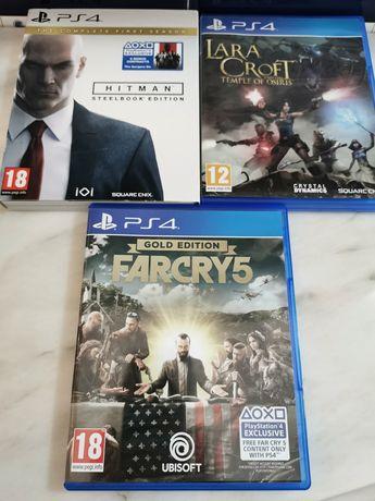 Lote de Jogos PS4 Lara Croft + Hitman + FarCry 5 PlayStation 4