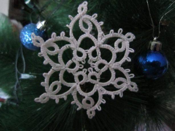 Dekoracje świąteczne. Ozdoba choinkowa. Płatek śniegu