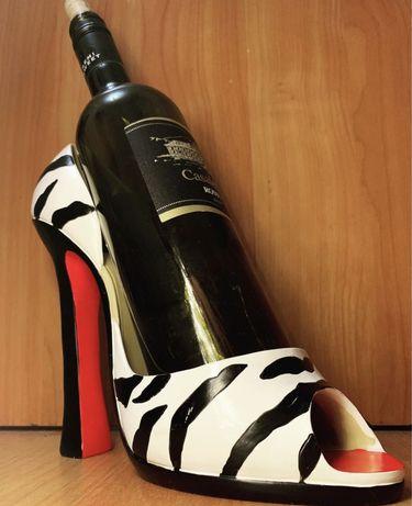 Подставка туфля для винной бутылки