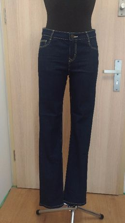 A02 Spodnie damskie granatowe 38