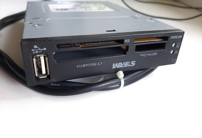 Кардридер STORM с USB для 3.5-дюймового отсека ПК