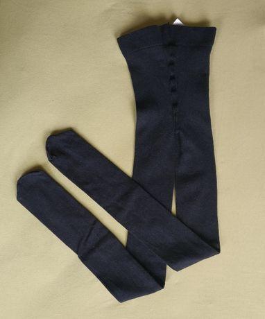 Новые тёплые колготки серого цвета HM 10-12 лет