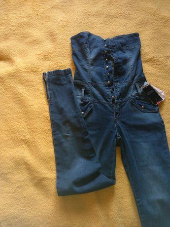 Nowy kombinezon jeans Stradivarius 36