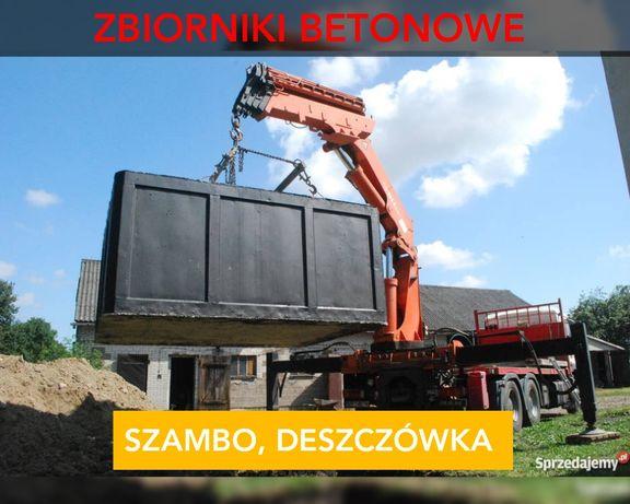 Zbiornik betonowy koparka minikoparka szambo betonowe odwodnienia