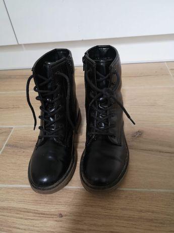 Buty sznurowane glany ocieplane zima Graceland r.33 dł. wkł. 21,5 cm