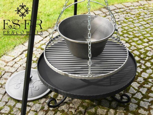 Zestaw PIOTR 50/60 grill, palenisko i kociołek 10,5l żeliwny ES-ER