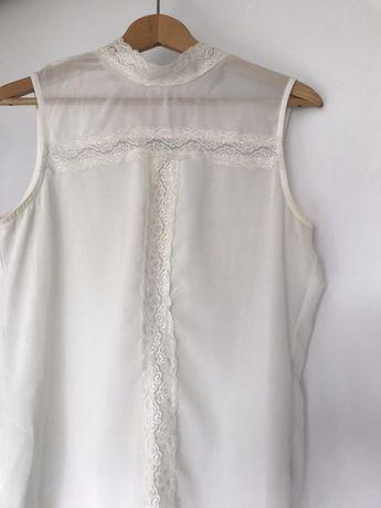 Biała bluzka prześwitująca BOOHOO