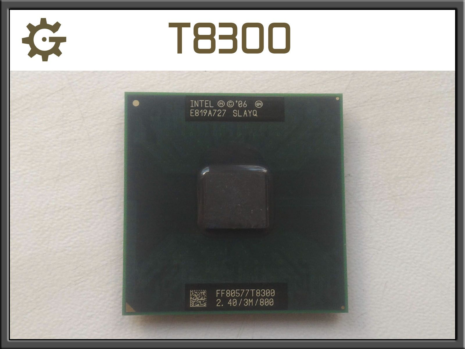 Процессор T8300 ноутбук Intel Core 2 Duo 2,4Ghz GL40 Socket P +т/паста