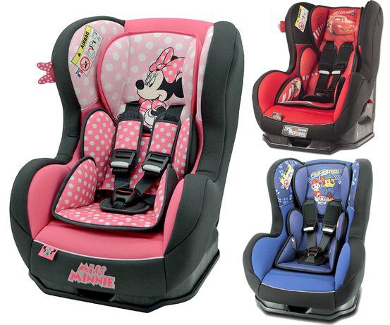 FOTELIK SAMOCHODOWY 0-18kg ADAC*** SPS Disney Cars Mickey Minnie Cars