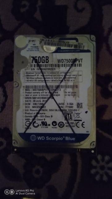 Жесткий диск WD 2.5 750GB