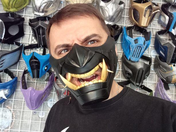 Киберпанк маска самурая. Cyber Oni mask. Cyberpunk