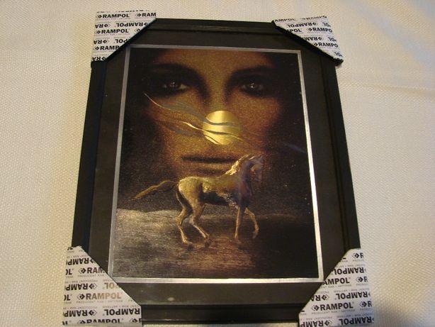 Obrazek na ścianę koń kobieta