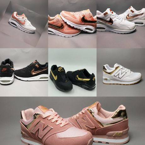 Damskie buty nike air max new balance czarny złoty biały 36-40 lato