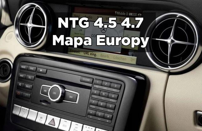 Mercedes NTG4.5 4.7 Mapa Europy V19 2020 Najnowsza Nawigacja
