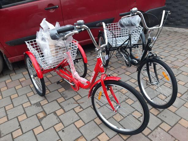 Дорослий триколісний вантажний велосипед