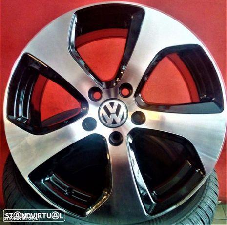 Jantes 17 Novas VW Golf VII GTI Pretas Polidas, com pneus usados em bom estado.