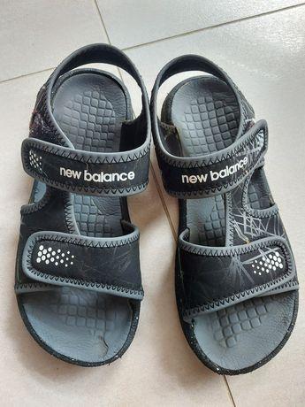 New balance r 37 wkl.22,5-23,5cm sandaly czarne piankowe