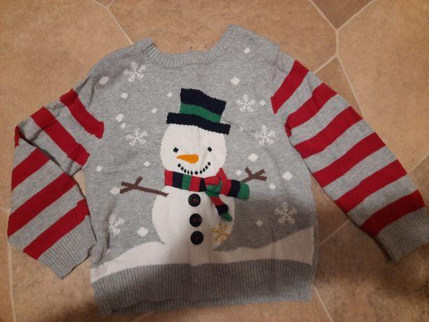 sweterek bałwanek, na 2-3latka