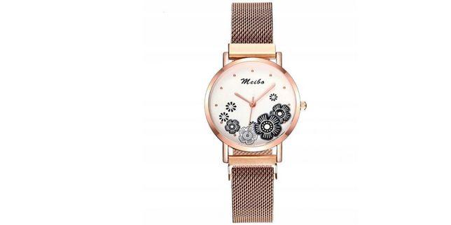 Zegarek damski z kwiatkami/zapięcie magnetyczne-model ZN79;kolory
