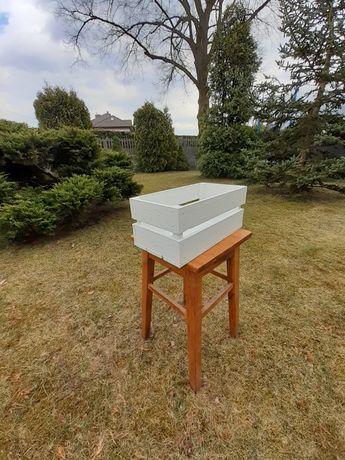 Skrzynka drewniana skrzyneczka drewniana skrzynka biała prezentowa