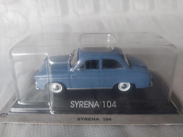 Syrena 104 -Kultowe Auta PRL - u - Złota Kolekcja - skala 1 : 43