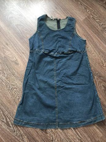 Джинсовый сарафан платье для беременных р 50-52