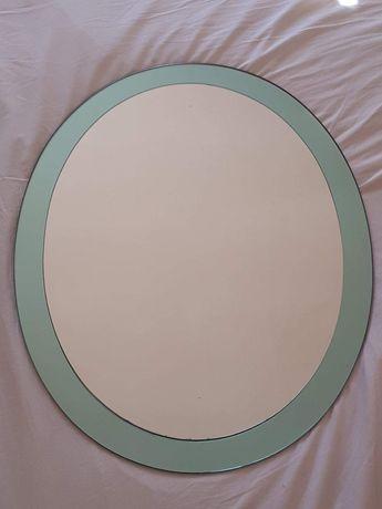 Lustro z zieloną ramą (67x53cm)