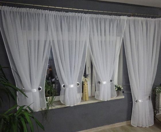 firana balkonowa 4 V-ki lamówka