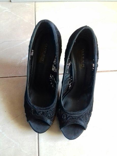 Туфли кружево чёрные р. 37